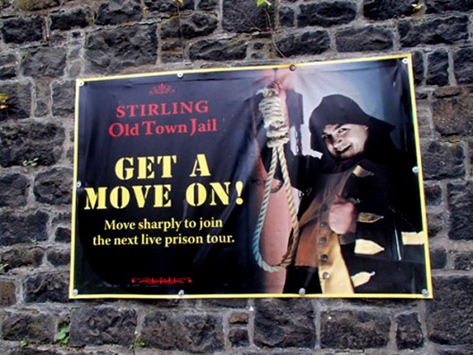 Old Town jail PVC banner by G3 Creative